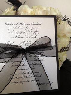 Simple Elegance Invitation by LBDesignsbyCO on Etsy