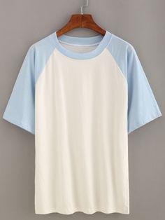 Camiseta manga corta casual -azul