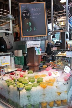 Juices in Mercado San Miguel, Madrid