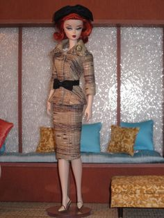 "Silkstone Barbie Wearing ""City Suited"" by Bellissima Couture"