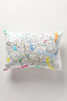 Cartography Pillow | $58.00 #Home #Decor #Design #Decorating | Visit WISHCLOUDS.COM for more...