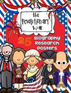 American Revolution Biography Research Posters