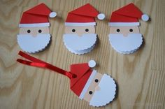 Gift card - Santa Claus Advent and Christmas artistic and educational works - A DIY gift card in the shape of Saint Nicholas. Tutorial step by step Gift card for DIY gift in sha - Happy Christmas Day, Diy Christmas Cards, Kids Christmas, Christmas Decorations, Paper Plate Crafts For Kids, Holiday Crafts For Kids, Santa Crafts, Xmas Crafts, Egg Carton Crafts