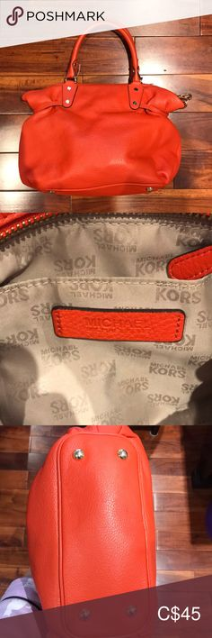 Shop Women's Michael Kors size OS Totes at a discounted price at Poshmark. Orange Tote Bags, Orange Bag, Womens Tote Bags, Michael Kors Bag, Totes, Best Deals, Closet, Things To Sell, Orange Purse