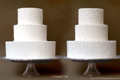 Raining dots, lace butter cream or fondant wedding cakes from A Simple Cake, Gail Watson