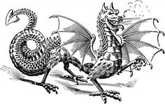 Vintage Dragon Image! - The Graphics Fairy