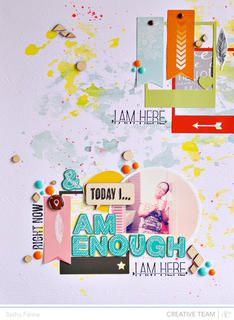 Today I am Enough *Studio Calico* by Sasha at Studio Calico  #scrap