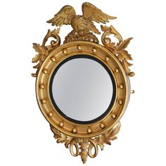 Regency Convex Gilt Mirror   See more antique and modern Convex Mirrors at https://www.1stdibs.com/furniture/mirrors/convex-mirrors