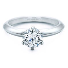 Classic dream engagement ring. Simple yet timeless. <3