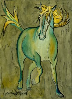 Love this type of horse art