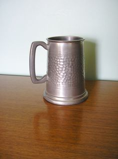 Vintage pewter tankard stein heavy hammered made in Sheffield England breweriana 10th Wedding Anniversary gift 1950s 50s One pint by TheIrishBarn on Etsy