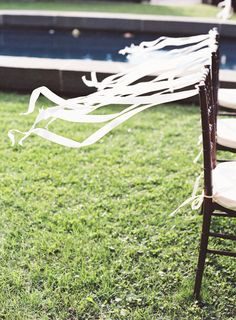 Ceremony Decor | Ribbons | See the wedding on #SMP Weddings: http://www.stylemepretty.com/2012/11/20/hudson-valley-wedding-at-ham-house-from-jen-huang/ | Jen Huang Photography