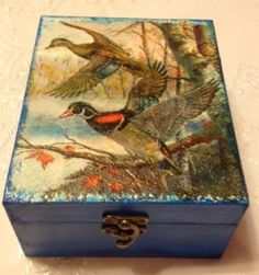 Wooden box Decoupage, Wooden Boxes, Craft Ideas, Crafts, Painting, Art, Boxes, Wood Boxes, Art Background
