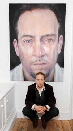 Private View of paintings by Derren Brown at The Rebecca Hossack Gallery, Charlotte Street