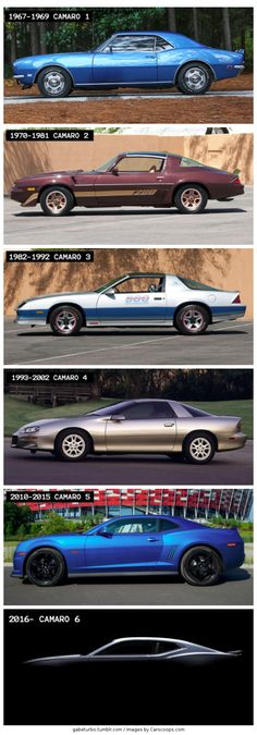 Which Camaro Has The Best Looking Profile? #camaro #chevrolet #chevy #design #cars #autos #legends #gm