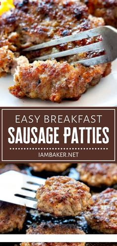 Breakfast Dishes, Breakfast Recipes, Breakfast Items, Breakfast Club, Breakfast Casserole, Breakfast Patties Recipe, Pork Recipes, Cooking Recipes, Savoury Recipes