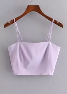 Crop Top in Lavender Crop Tops, Tank Tops, Lavender, Camisole Top, Women, Fashion, Eye Brows, Blouses, Moda