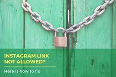 Instagram link not allowed? Here is how to fix! Instagram Bio, Instagram Accounts, New Ip, Ig Bio, Website Link, Business Website, Hacks, Tips