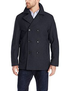 London Fog Men's Houston Peacoat and Quilted Lining, Officer Navy, Large London Fog ++ You can get best price to buy this with big discount just for you.++