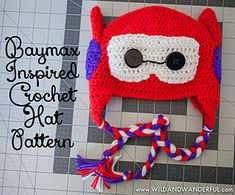 Baymax-Inspired Crochet Hat Pattern pattern by Katy McKinley