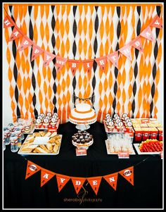 Here's an awesome baseball dessert table! See more party ideas at CatchMyParty.com!