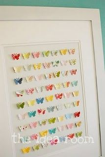 Scrapbook paper butterflies