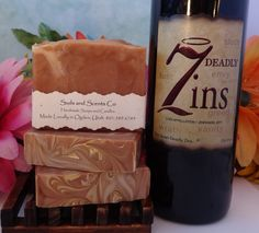 RED MERLOT BORDEAUX Wine and Goats Milk Handmade Cold Process Body Soap by SudsNScentsCo on Etsy