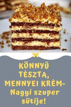 megcsinálod? #recept #süti #édesség Hungarian Desserts, Hungarian Recipes, Sweet Desserts, Delicious Desserts, Cookie Recipes, Dessert Recipes, Cake Decorating Videos, Homemade Cookies, Pavlova