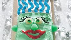 Go wild with ready-made decorating gel and icing on this wacky cake--all you need to add is the scream!