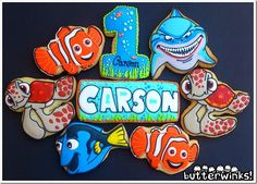 Finding Nemo Cookies made by ButterWinks