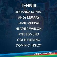 Tennis- Team GB Rio 2016