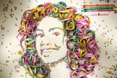 Beleza Natural: Serpentina Ad for Carnival Art For Kids, Crafts For Kids, Arts And Crafts, Diy Crafts, Clown Crafts, Pub Design, Design Art, Theme Carnaval, Creative Advertising