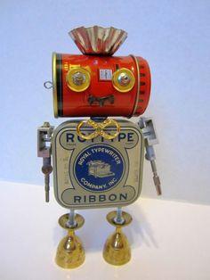 Robot Roy bot  found object robot sculpture assemblage by ckudja, $50.00