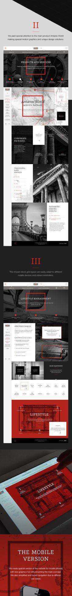 M2M Private Bank by Pavel Dergachev, via Behance