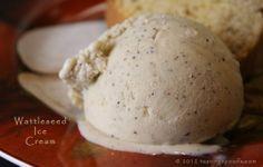wattleseed | Wattleseed ice cream. Tastes something like hazelnut, vanilla, coffee ...