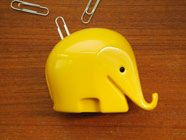 70s Elephant Pot: paper clip holder