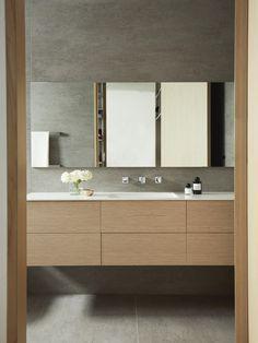 Australian bathroom trends: September 2019 edition - The Interiors Addict Outdoor Paving, Long Lasting Foundation, Concrete Basin, Custom Dining Tables, Phoenix Design, Bathroom Trends, Basin Mixer, Architect Design, Vanity Set