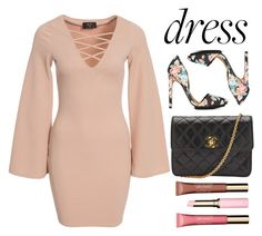 """""""pink dress"""" by missgirlgiuli ❤ liked on Polyvore featuring moda, Shoe Cult, AX Paris, Chanel e Clarins"""