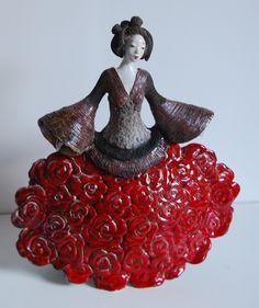 Sculpture Fille Fleur 2015 Pauline Wateau