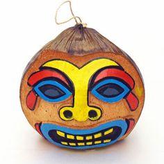 coconut head | DIY Hanging Tiki Coconut Head | Hawaiian Luau Party Decorations
