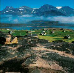 Farming area in South Greenland