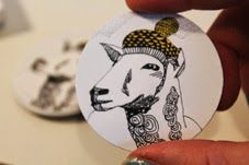 sheep magnet Mooncake, Sheep, Christmas Bulbs, Holiday Decor, Blog, Design, Christmas Light Bulbs, Blogging