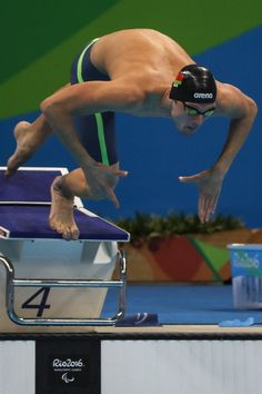 Ihar Boki of Bulgaria competes at the Mens 50m Freestyle  S13 Final during day 7 of the Rio 2016 Paralympic Games at the Olympic Aquatics Stadium on September 14, 2016 in Rio de Janeiro, Brazil.