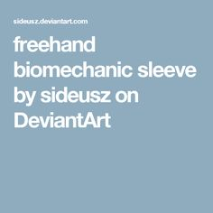 freehand biomechanic sleeve by sideusz on DeviantArt
