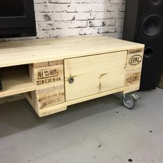 Pallet TV Stand with Cabinets   101 Pallet Ideas