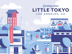 Little Tokyo Los Angeles by Down the Street Designs #Design Popular #Dribbble #shots