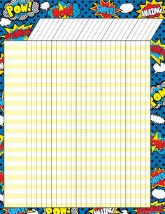 """Superhero Incentive Chart - Convenient, useful learning tools that decorate as they educate! Each chart measures 17"""" by 22"""". Related lessons and activities are provided on the back of every chart."""