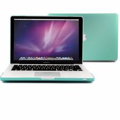 """Amazon.com: GMYLE® Turquoise Robin Egg Blue Frosted Matte Rubberized (Rubber Coated) Hard Snap On Case Cover for 13.3"""" inch Macbook Pro (wit..."""