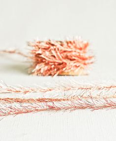 Tinsel Twine in Copper & Cream  6 Yards  by thatchandthistleco, $3.50