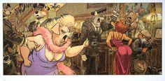 Juanjo GUARNIDO : John Blacksad 7, 2010 : affiche d'Art 50 x 25 cm sur un beau et luxueux papier épais et satiné